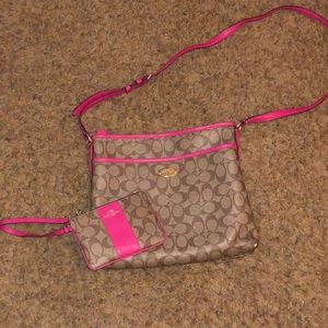 Coach Bags - Pink-Coach purse and wristlet.